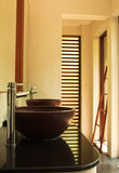 Luxury restroom in tropical villa Royalty Free Stock Images