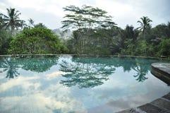 Luxury retreat spa swimming pool royalty free stock photography