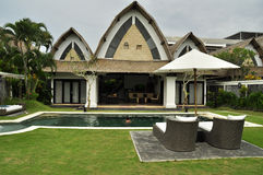 Luxury retreat spa and villa. With swimming pool bali indonesia Royalty Free Stock Photography