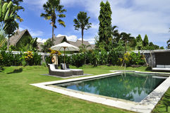 Luxury retreat spa and villa swimming pool. Luxury retreat spa and villa with swimming pool bali indonesia Royalty Free Stock Photo