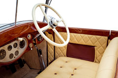 Luxury retro car interior Stock Photography