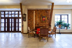 Luxury retro hotel hall Stock Photos