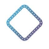 Luxury rhomb frame with empty copy-space, classic heraldic blank Royalty Free Stock Photo