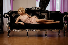 Luxury rich woman like Marilyn Monroe Stock Images