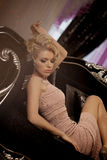 Luxury rich woman like Marilyn Monroe Royalty Free Stock Image