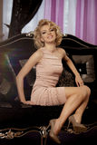 Luxury rich woman like Marilyn Monroe Stock Images