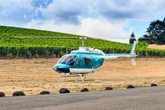 Luxury ride;helicopter Stock Images