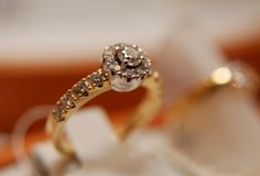 Luxury ring. The diamond expensive luxury ring Stock Photography