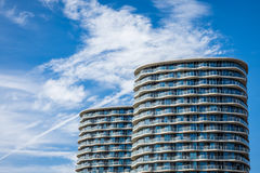 Luxury riverside apartments in London Royalty Free Stock Images