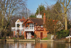 Luxury Riverside House Royalty Free Stock Photo