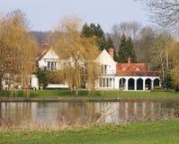 Luxury Riverside Houses Stock Photography