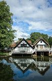 Luxury Riverside Houses in England Stock Image