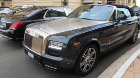 Luxury Rolls Royce Parked in Front of the Monte-Carlo Casino. Monte-Carlo, Monaco - March 15, 2017:  Luxury Car Rolls Royce Parked in Front of the Monte-Carlo