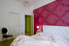 Luxury and romantic bedroom Royalty Free Stock Images