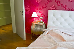 Luxury and romantic bedroom Stock Photography