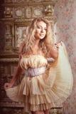 Luxury romantic girl fashion model Royalty Free Stock Image