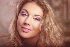 Luxury romantic girl fashion model Stock Image
