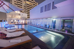 Luxury rooftop pool in Asia Royalty Free Stock Photo