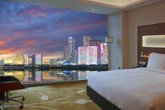 Free Luxury Room And Hangzhou Skyline Through Window Royalty Free Stock Images - 157812109