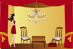Luxury room illustration Stock Image