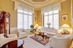 Luxury room interior with antique furniture Stock Photos