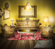 Luxury room interior ,Victorian style Stock Image