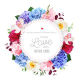 Luxury round floral vector design frame stock illustration