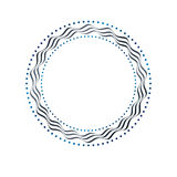 Luxury round frame with empty copy-space, classic heraldic blank. Circular shape created with undulate stripes and curves. Retro style label, decorative seal Stock Photos