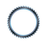 Luxury round frame with empty copy-space, classic heraldic blank. Circular shape created with undulate stripes and curves. Retro style label, decorative seal Stock Image