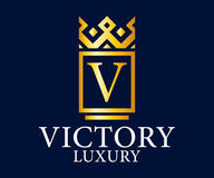 Luxury, Royal and Elegant Logo Vector Design, Beautiful Template Royalty Free Stock Images