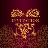 Luxury royal invitation card for design Stock Images