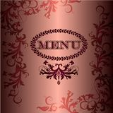Luxury royal menu card for design Stock Photography