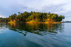 Luxury rsort at kenyir lake Royalty Free Stock Photography