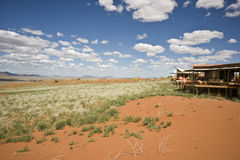Luxury safari camp Namibia Stock Image