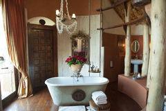 Luxury bathroom Safari Lodge. Luxury hotel bathroom (Ngorongoro Crater Lodge in Tanzania Stock Photography