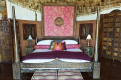 Luxury Safari Lodge Africa. Bedroom of a luxury safari hotel in Tanzania, Africa Stock Photos