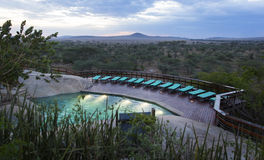 Luxury safari lodge in Africa Stock Image