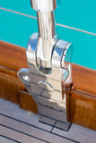 Luxury sail boat parts detail Royalty Free Stock Photo