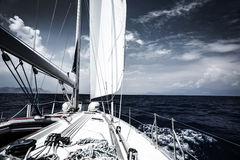 Luxury sail boat Stock Photos