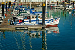 Luxury sail yacht Stock Photos