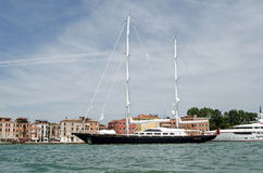 Luxury Sail Yacht Aquarius, Venice Stock Image