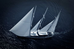 Luxury sailboat Stock Photo