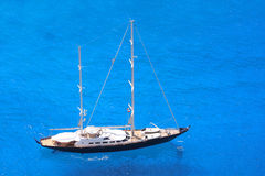 Luxury sailboat with azure sea Royalty Free Stock Photography