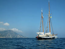 Luxury sailboat on French Riviera Royalty Free Stock Photos