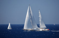 Luxury sailboat. Sail in Mediterranean stock photography
