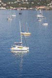 Luxury Sailboats in Blue Water Royalty Free Stock Image
