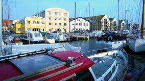Luxury sailboats in Nyhavn harbor, Copenhagen water transport, Scandinavian. Stock photo royalty free stock photography