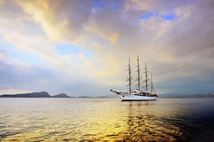 Luxury sailfish Sea Cloud in Navarino bay, Greece Stock Photography