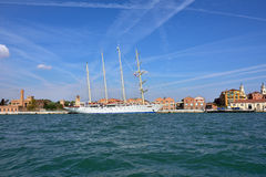 Luxury Sailfish Star Clipper in Venice Royalty Free Stock Image