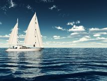 Luxury Sailing Royalty Free Stock Photo